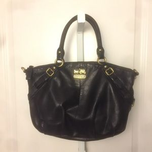 Coach Black Leather Madison Sophia Satchel Bag